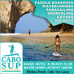 Stand Up Paddleboarding and Water Sports on Medano Beach, Cabo San Lucas