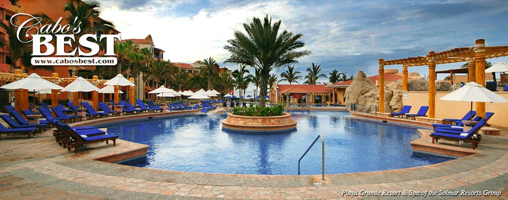 One of many swimming pools at Playa Grande Resort in Cabo San Lucas