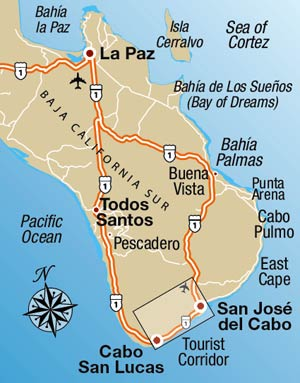map of baja sur and los cabos