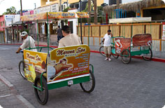 Bicycle taxis are a great way to get around Cabo San Lucas