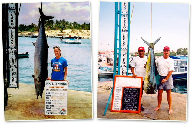 World record Wahoo and Dorado caught in Cabo San Lucas