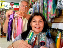 Minerva Saenz Valenzuela and Bob Smith of Minerva's Baja Tackle