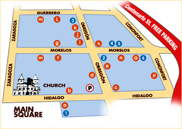 Map of the San Jose del Cabo Art Walk