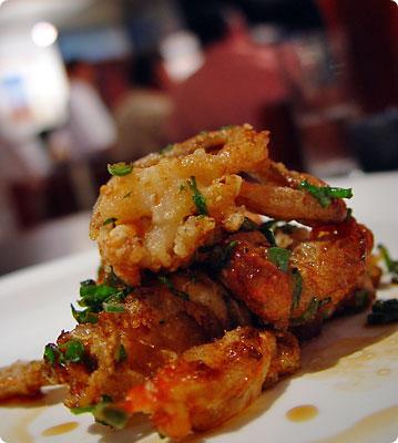 Soft shell crab at Nick San, Cabo San Lucas