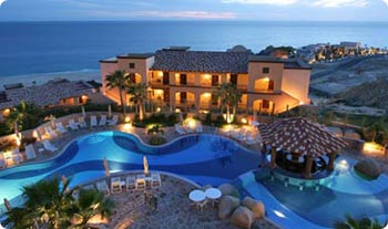 Colors come alive at sunset at Pueblo Bonito Sunset Beach Resort, Cabo San Lucas